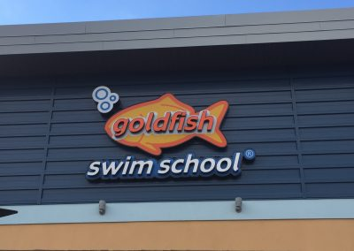 Goldfish Swim School sign
