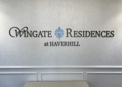 assisted living wall signs