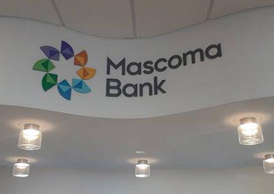 bank interior logo sign