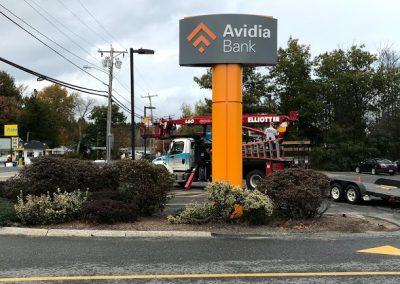 bank pylon sign