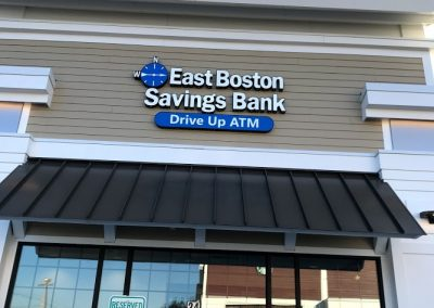 bank wall sign