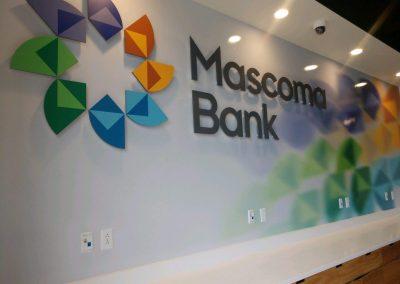 bank wall signs
