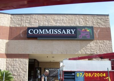 commissary wall sign