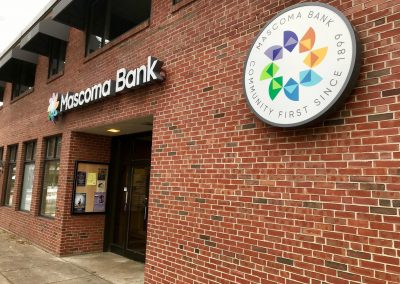 exterior wall signs for bank