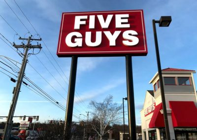 five guys burgers signs