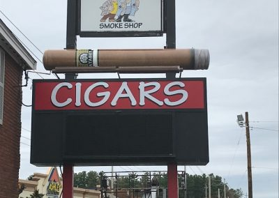 giant cigar sign