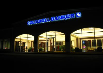 illuminated bank sign