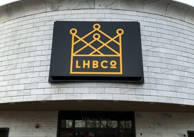 lhb co restaurant sign