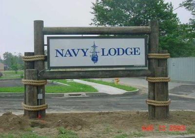 navy lodge sign