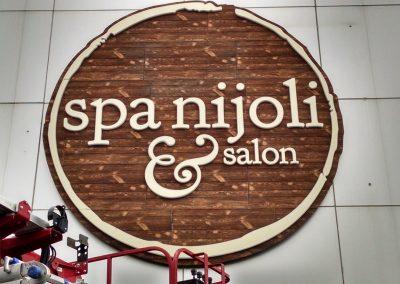nijoli spa and salon sign