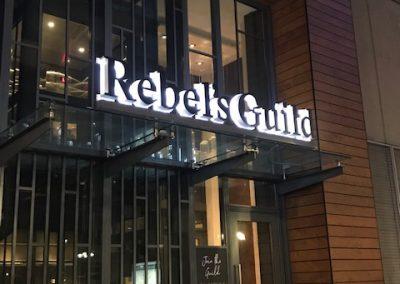 reverse channel letters for restaurants