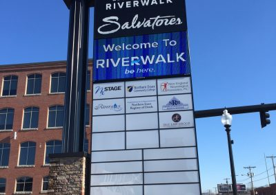 riverwalk pylon sign