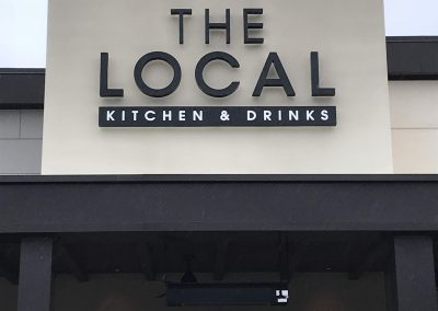 signs for local dining