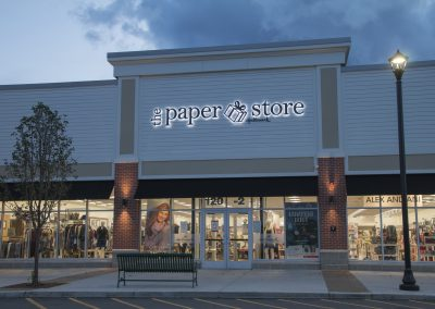the paper store sign night
