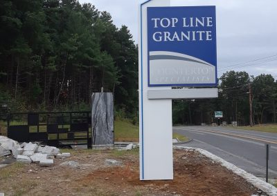 top line granite sign