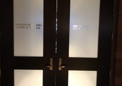casino door lettering