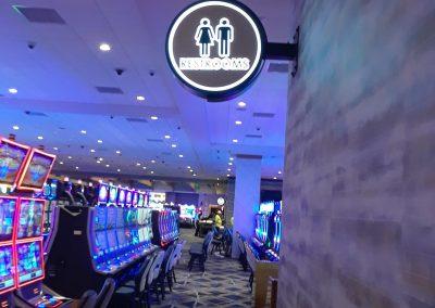 casino restroom signs