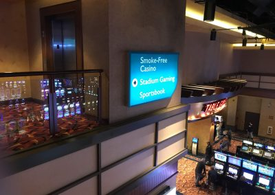 casino room wayfinding signs