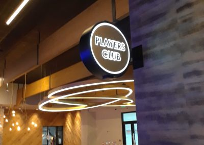casino wayfinding signs players club